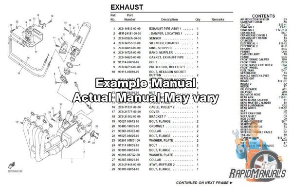 Harley Parts Catalog Sample